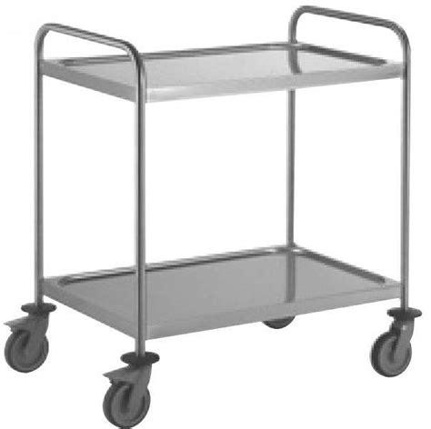 chariot inox cuisine chariot de cuisine inox 2 niveaux chariot de