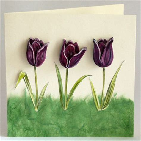 decoupaged tulips tutorial printable template