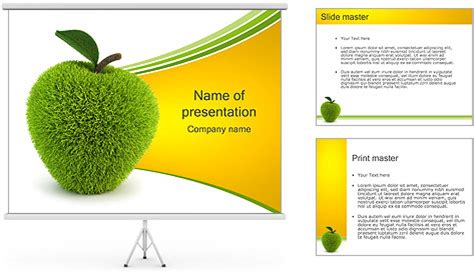 grass apple powerpoint template backgrounds id