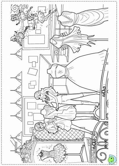 Coloring Barbie Fairytale Pages Dinokids Close