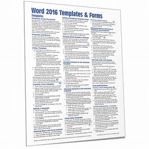 Microsoft Word 2016 Templates  U0026 Forms Quick Guide Card