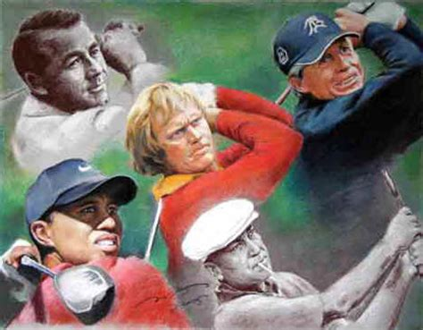 grand slam legendf  golf art print poster