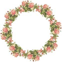 Transparent Vintage Flowers Clip Art Borders