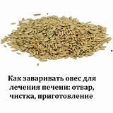 Сколько пить отвар овса для чистки печени