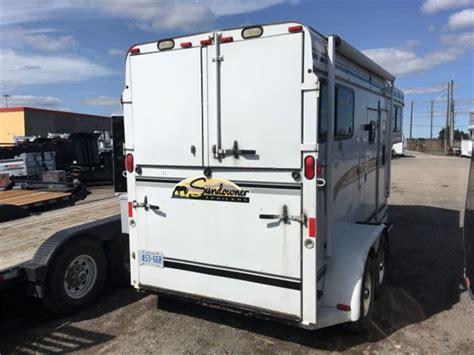 sundowner  horse straight gooseneck steel frame cargo utility trailers oshawa