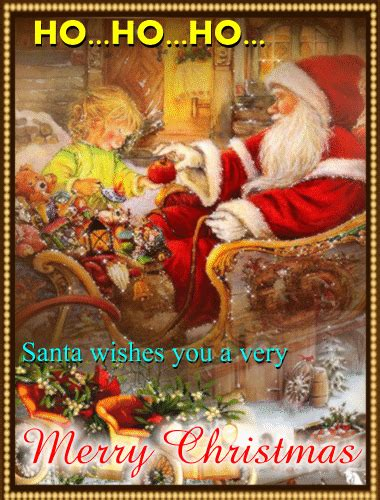 santa wishes you merry christmas free santa claus ecards 123 greetings