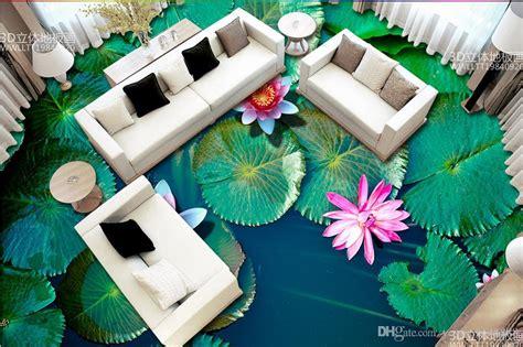 floor tiles custom wallpapers  living room lotus
