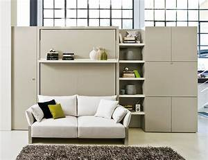 Transformable murphy bed over sofa systems that save up on for Wall bed sofa conversions