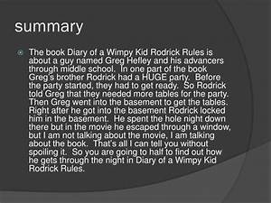 PPT  Diary of a W impy kid Rodrick Rules PowerPoint Presentation  ID2379751