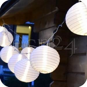 Lampions Mit Led : led lampionkette 3 6m mit 10 xxl lampions weiss kaufen ~ Watch28wear.com Haus und Dekorationen