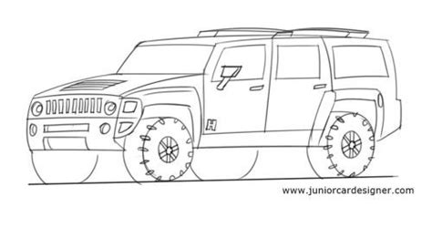 How To Draw A Hummer H2 Suv In 2019
