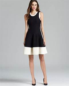 Kate Spade Size Chart Kate Spade Quincy Dress In Black Cream White Lyst