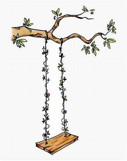 Swing Tree Tire Clipart Drawing Transparent 1106