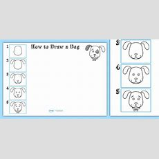 How To Draw A Dog Worksheet  Drawing, Animals, Wet Play, Design