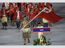 Tongan flag bearer Pita Taukatofua is a model and