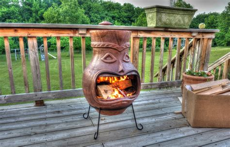 Tiki Chiminea For Sale by Baking In A Chiminea