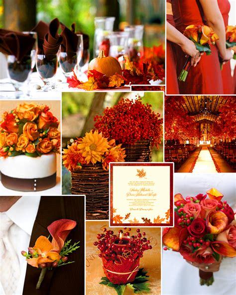 favorite fall wedding colors burnt orange deep red