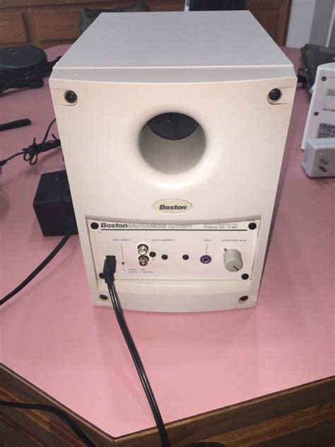boston micromedia system media computer speakers subwoofer