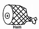 Ham Coloring Contest Scratch sketch template