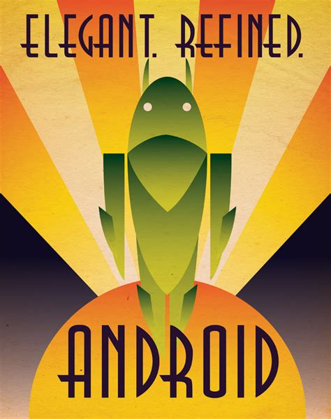 deco android poster by justonescarf on etsy
