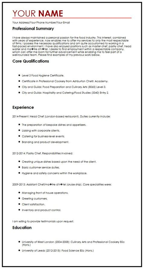 cv exle with a personal statement curriculum vitae builder