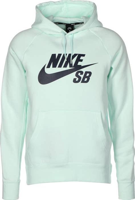 check sweatshirt nike sb icon hoodie turquoise