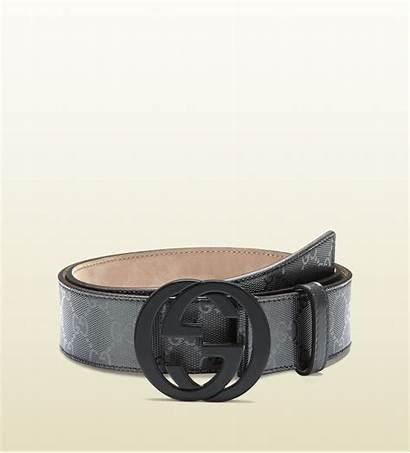 Gucci Belt Imprime Gg Grey Interlocking Belts