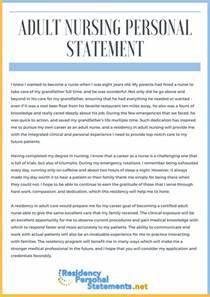 Best Nursing School Personal Statement Examples
