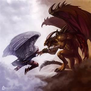 angel vs demon by newnightmarezuken on DeviantArt