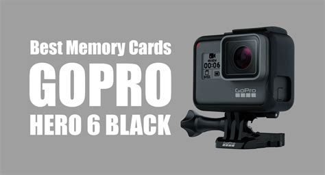 Check spelling or type a new query. Best SD Cards for Gopro Hero 6 (in 2019)