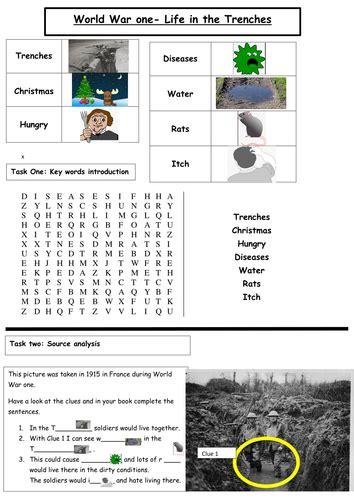 World War 1 Worksheets  Kidz Activities