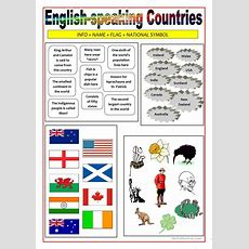 Englishspeaking Countries  Matching Activity Worksheet  Free Esl Printable Worksheets Made By