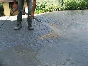 Pose De Pavé Sur Mortier : pose de pav s en granit sur une terrasse galerie photos ~ Dode.kayakingforconservation.com Idées de Décoration