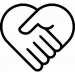 Icon Svg Heart Handshake Health Care Medicine