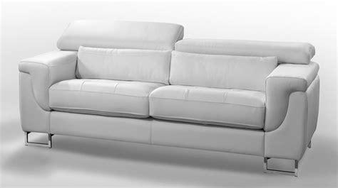 canape blanc cuir design canapé cuir blanc 2 places pas cher canapé italien