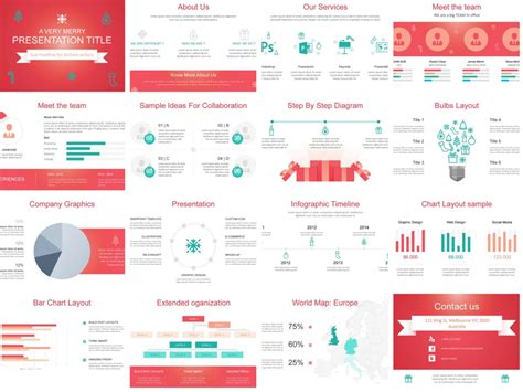 christmas themed powerpoint template