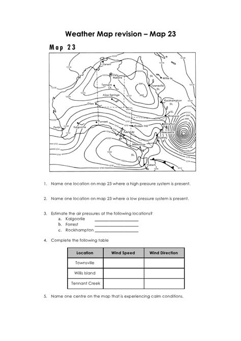 printable worksheets 187 reading weather maps worksheets