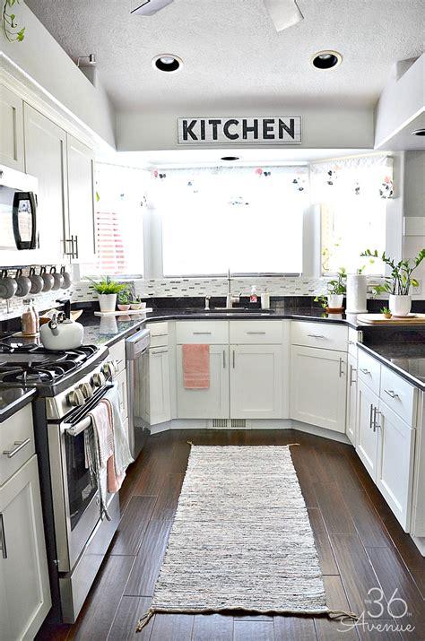 White Kitchen  Pink Kitchen Decor  The 36th Avenue