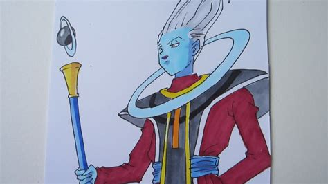 How to draw Whis ウイス from Dragon Ball Z Battle of Gods