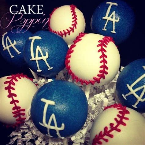 los angeles dodgers baseball cake pops wwwcakepoppincom