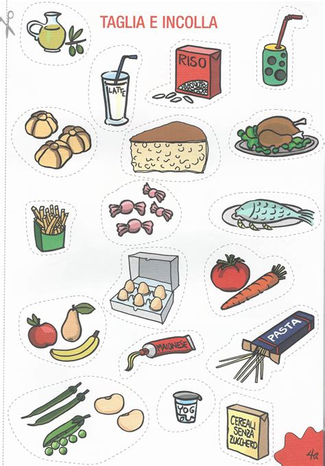 alimenti da colorare disegni da colorare progetto di educazione alimentare