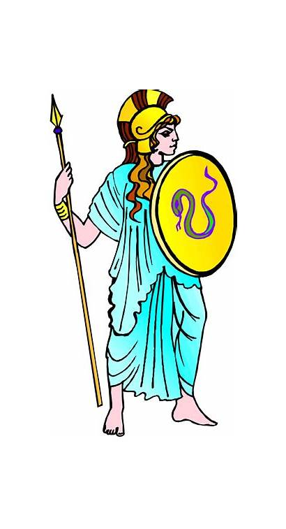 Clipart Mythology Athena Myth God Clip Cartoon