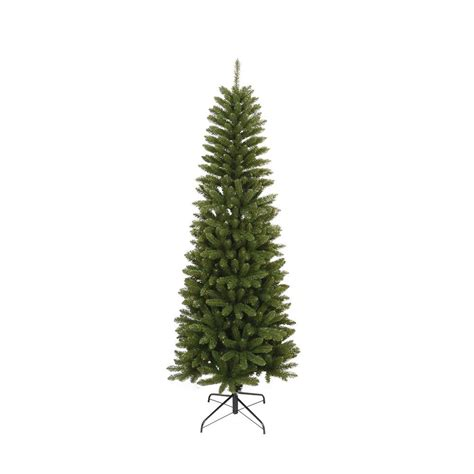 unlit white trees slim 6 5 ft unlit slim artificial tree with 762 tips 13509 the home depot
