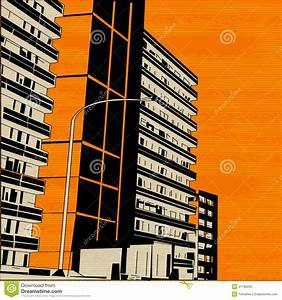 Orange Urban City Street Royalty Free Stock Photo - Image ...