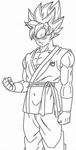 Goku Ssj Blue Lineart 2 By Saodvd On Deviantart