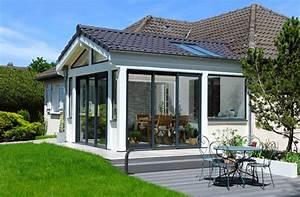 beautiful maison avec veranda ideas amazing house design With awesome modele de maison en u 1 renovation et extension dune maison contemporaine 224