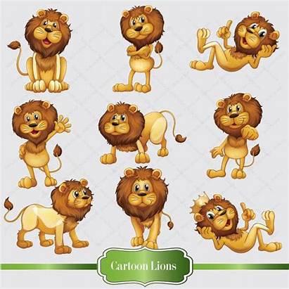 Lion Clipart Clip Lions Digital Cartoon Instant