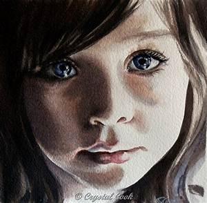 watercolor portrait original painting young girl daughter ...