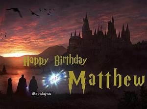 matthew, harry, potter, birthday, greeting, card