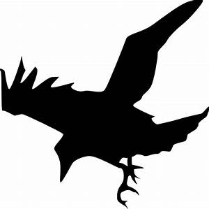 Raven Silhouette Clip Art at Clker.com - vector clip art ...